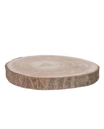 base rodaja madera natural