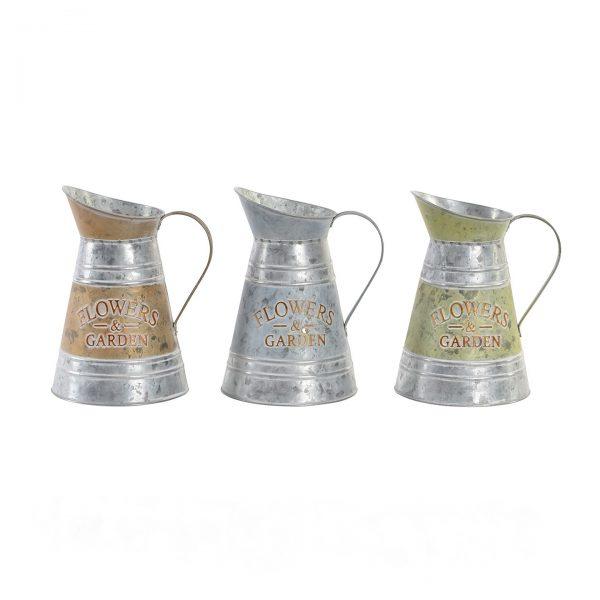 florero jarra zinc set