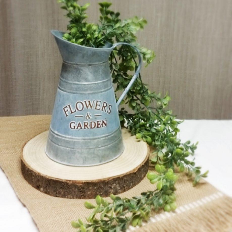 jarra zinc con base tronco madera 1440x1440