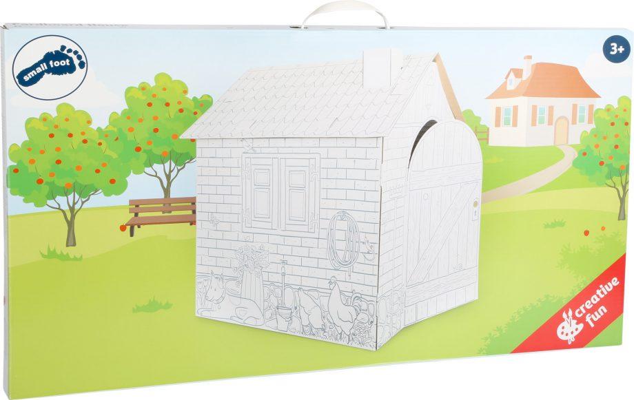 casa carton zona infantil embalaje