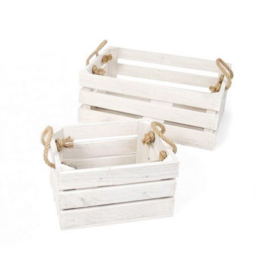 cajas blancas asa cuerdas