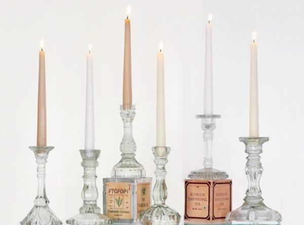 candelabros cristal tallado composicion