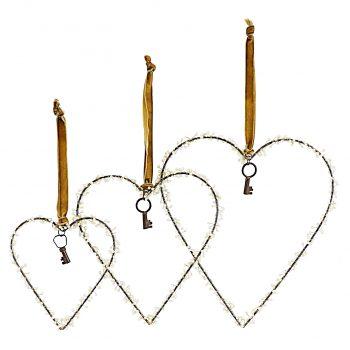 corazones con llave colgantes 1