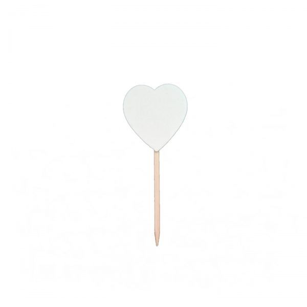 mini corazon blanco pincho