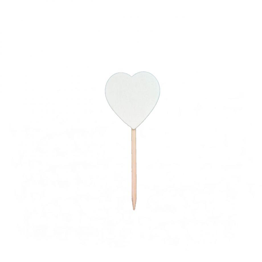 mini corazon blanco pincho