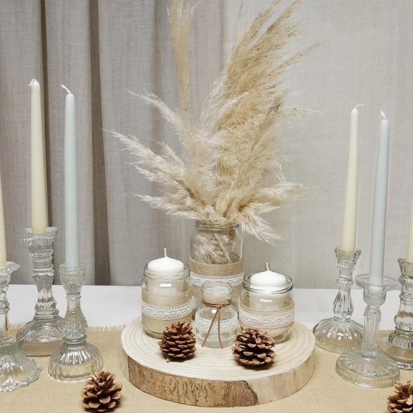 3 centro mesa navidad rustico