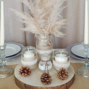 centro mesa navidad rustico2