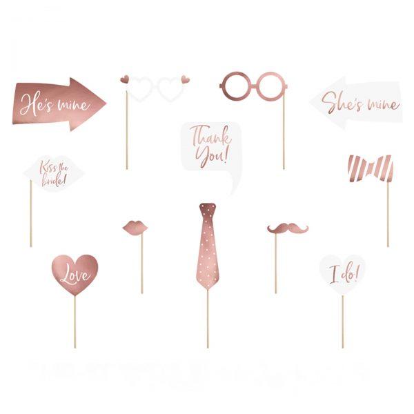 accesorios photocall rosaceo