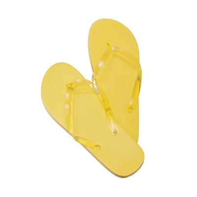chanclas amarillas s