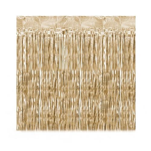 cortina tiras dorada s