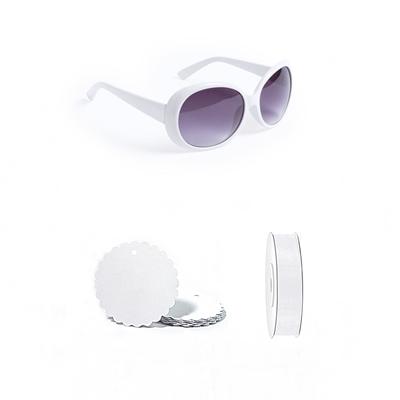 gafa vintage blanca con deco