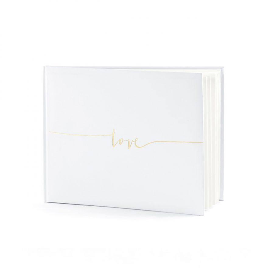 libro firmas blanco love dorado1
