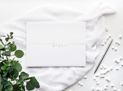 libro firmas blanco love plateado entorno s