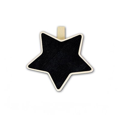 pizarra mini estrella pinza s