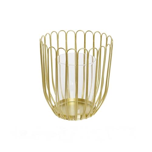 portavela alambre dorado