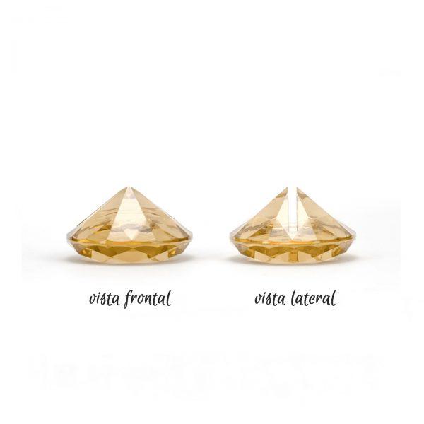 soporte diamante dorado vistas