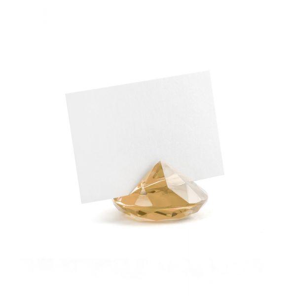 soporte diamante tarjetas dorado