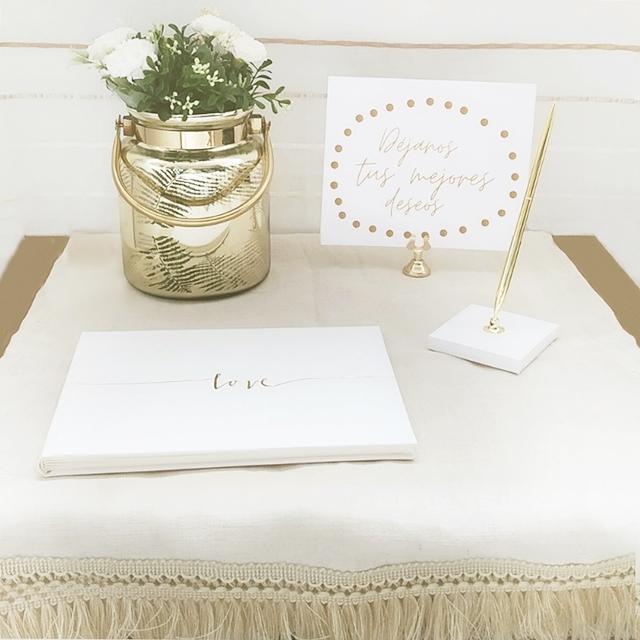 mesa de firmas goldy camino post