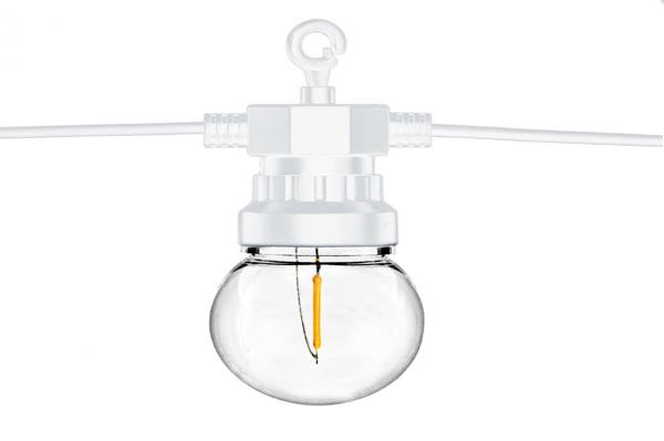 tira bombillas led blanca detalle