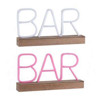 rotulo neon base madera